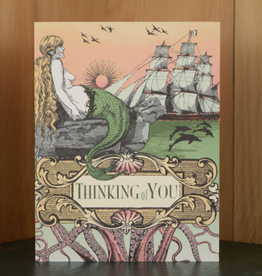 Thinking of You Mermaid & Octopus Greeting Card