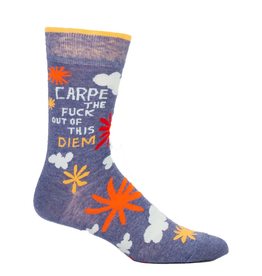 Carpe Diem Men's Crew Socks
