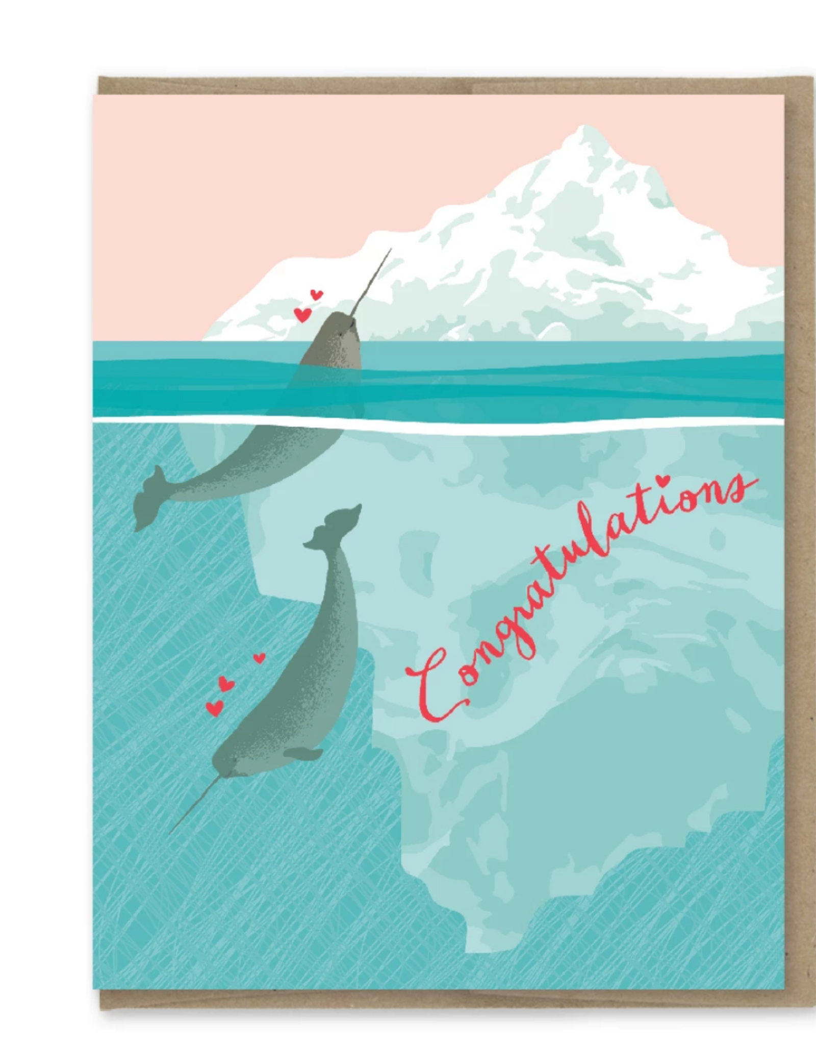 Congratulations Narwhals Greeting Card