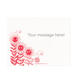 Frog & Toad Press Flower Friends Personalized Note