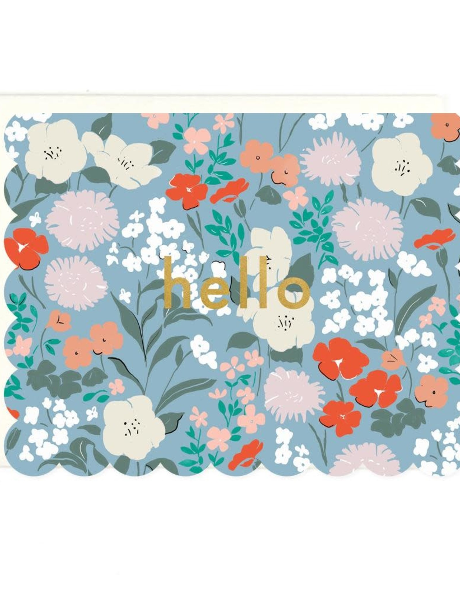 Hello (floral) Greeting Card