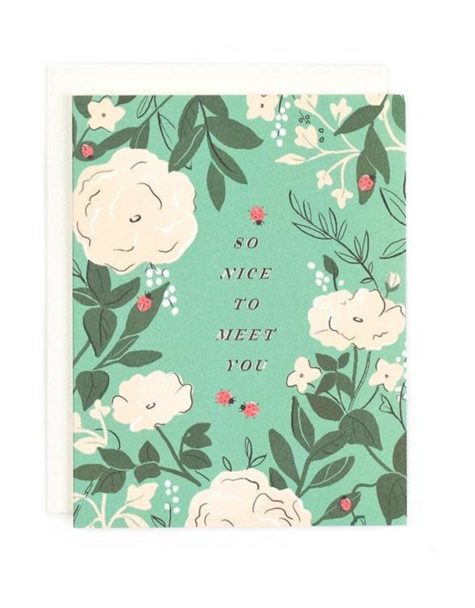 So Nice to Meet You Greeting Card