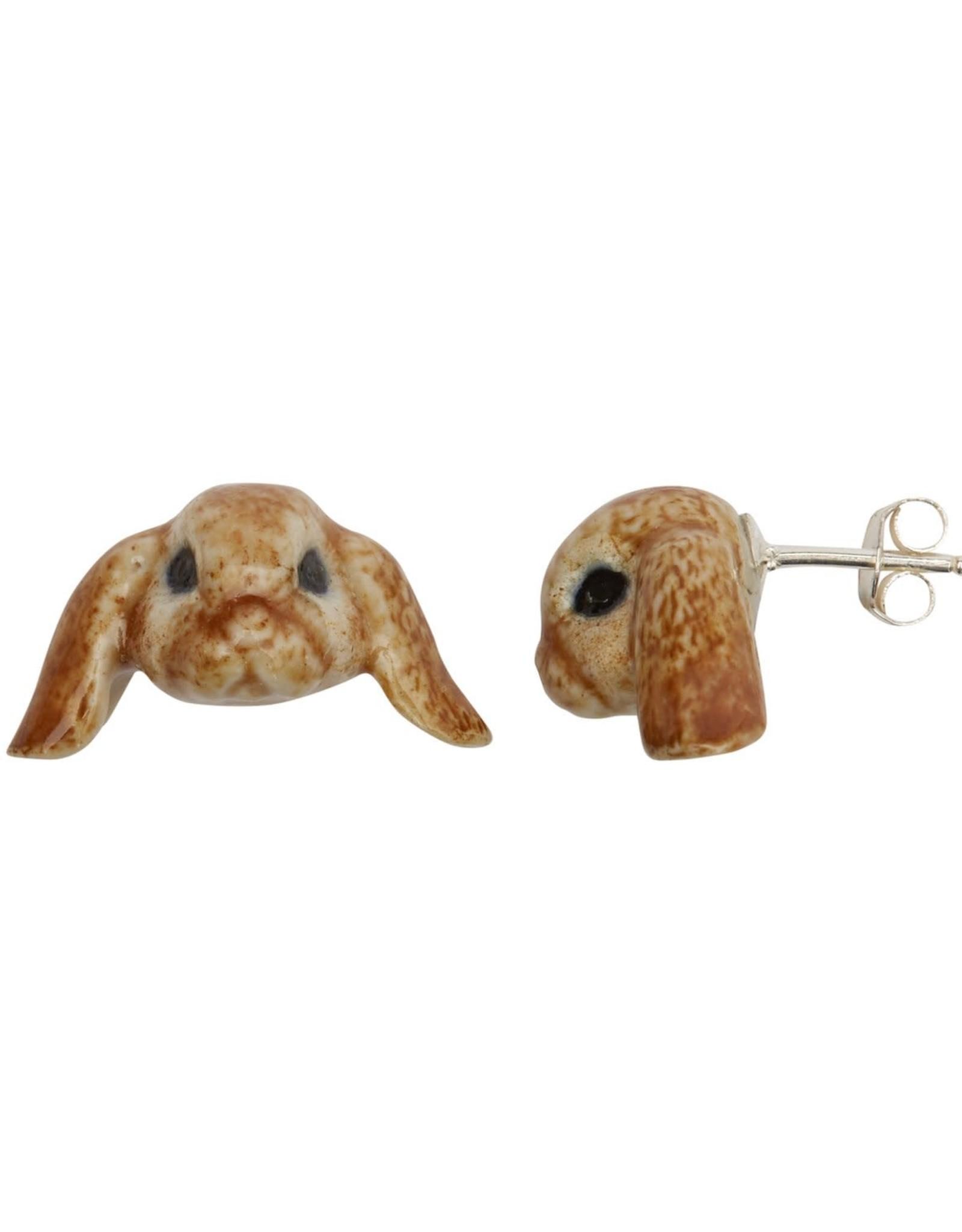 Floppy Ear Bunny Stud Earrings Sterling Silver