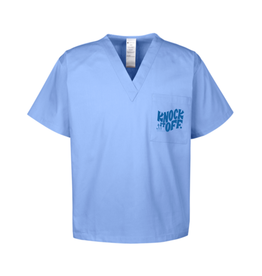 Frog & Toad Press Knock It Off Scrubs Top