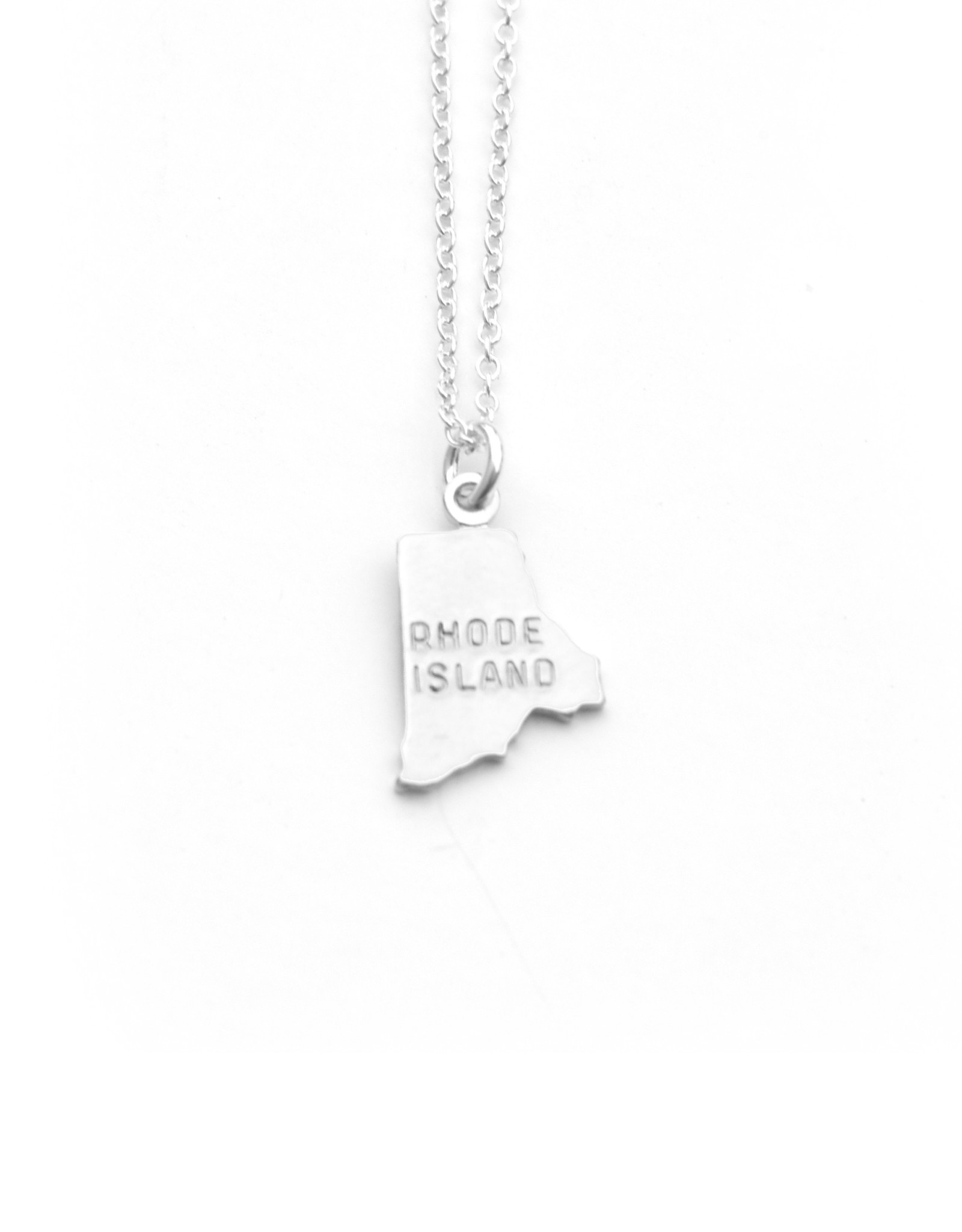 Rhode Island State Necklace Silver