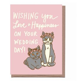 Wishing You Love & Happiness On Your Wedding Day Greeting Card
