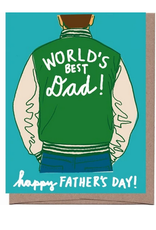 World's Best Dad Varsity Jacket Greeting Card