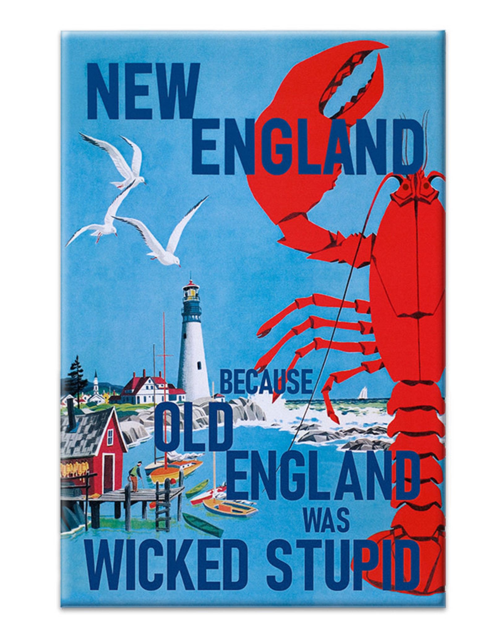 New England Old England Magnet