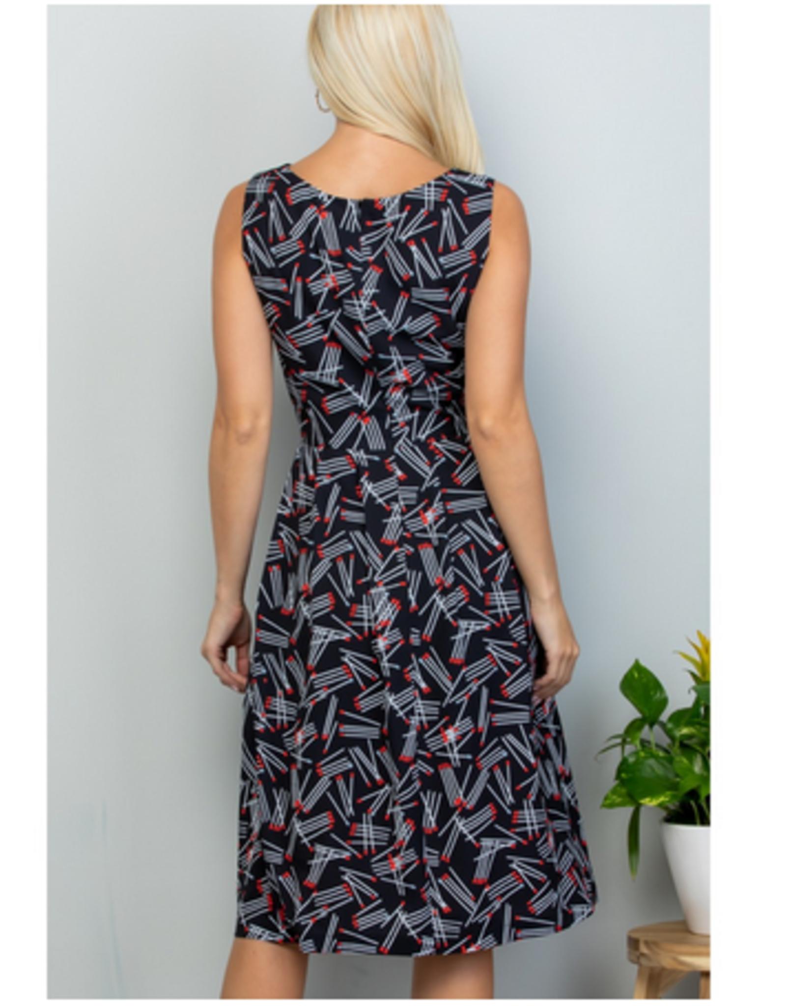 Match Stick Midi Dress