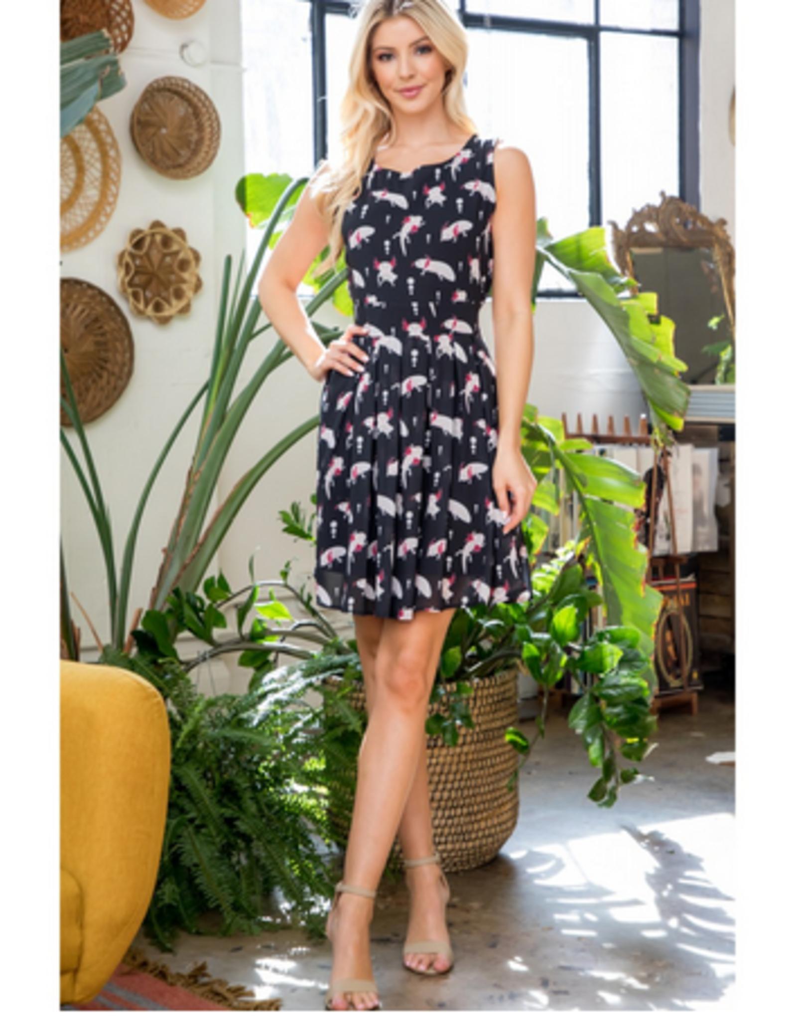 Axolotl Print Dress