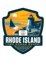 Rhode Island the Ocean State Emblem Sticker