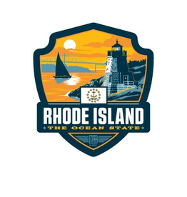 Rhode Island the Ocean State Emblem Sticker