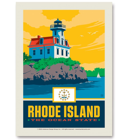 Rhode Island the Ocean State Sticker