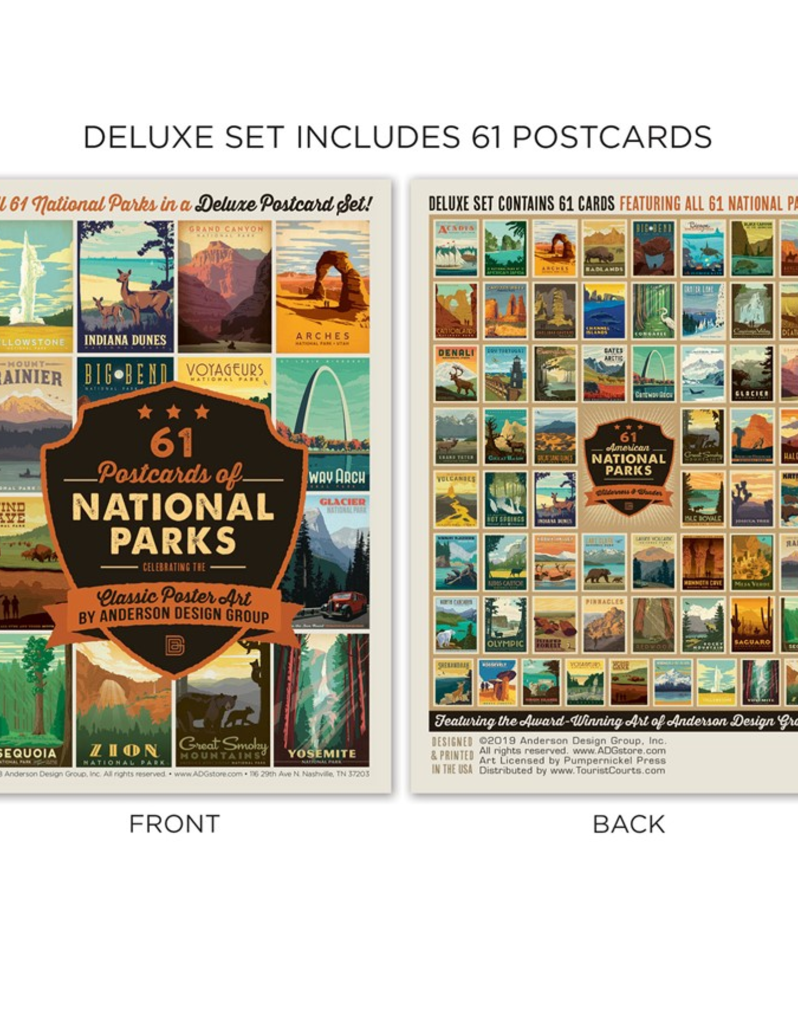 National Parks Postcard Set