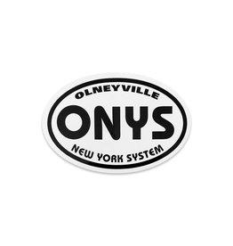 Olneyville NY System Bumper Sticker (Oval)