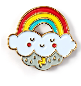 Rainbow Cloud Enamel Pin