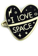 I Love Space Enamel Pin