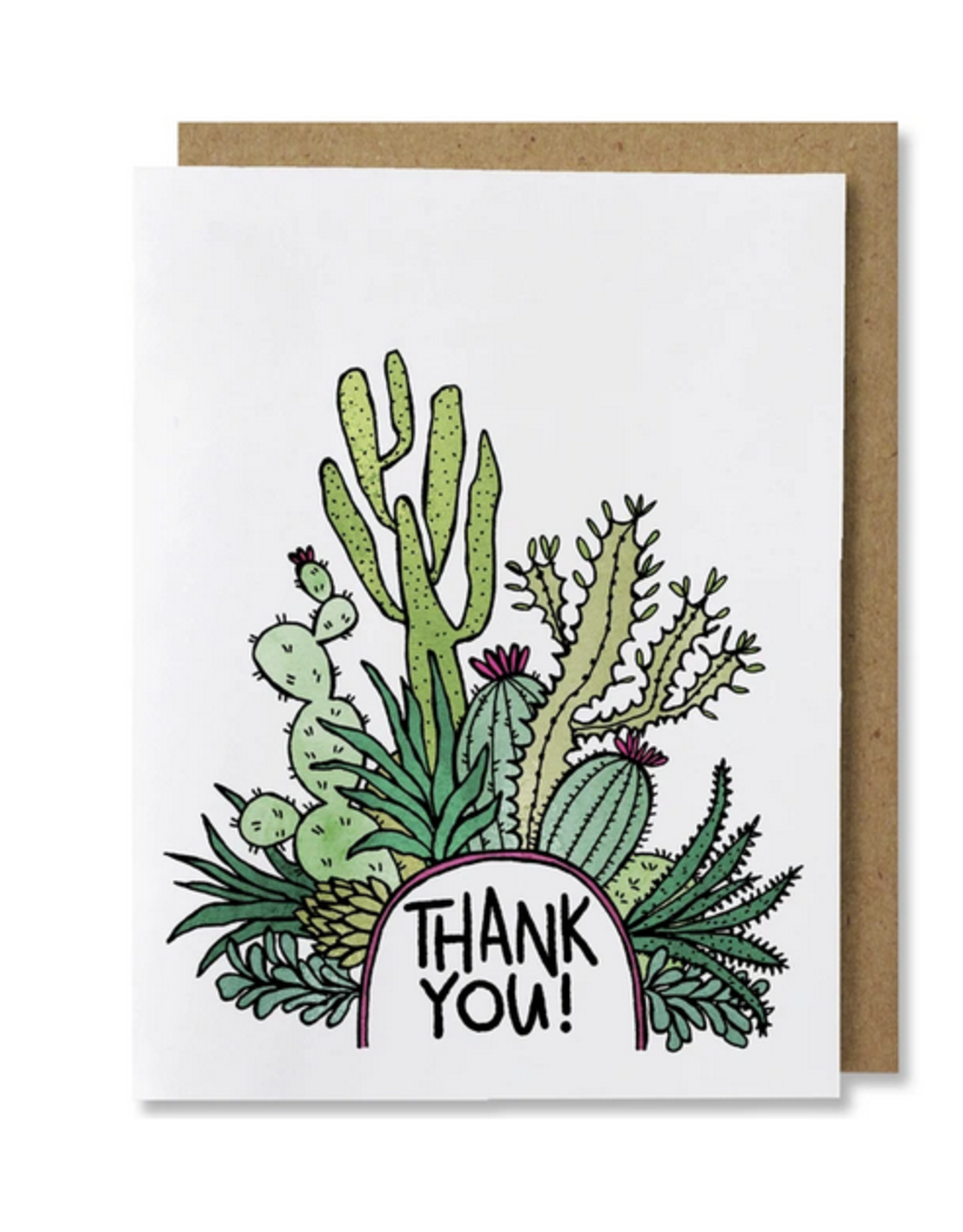 Thank You Cactus Greeting Card
