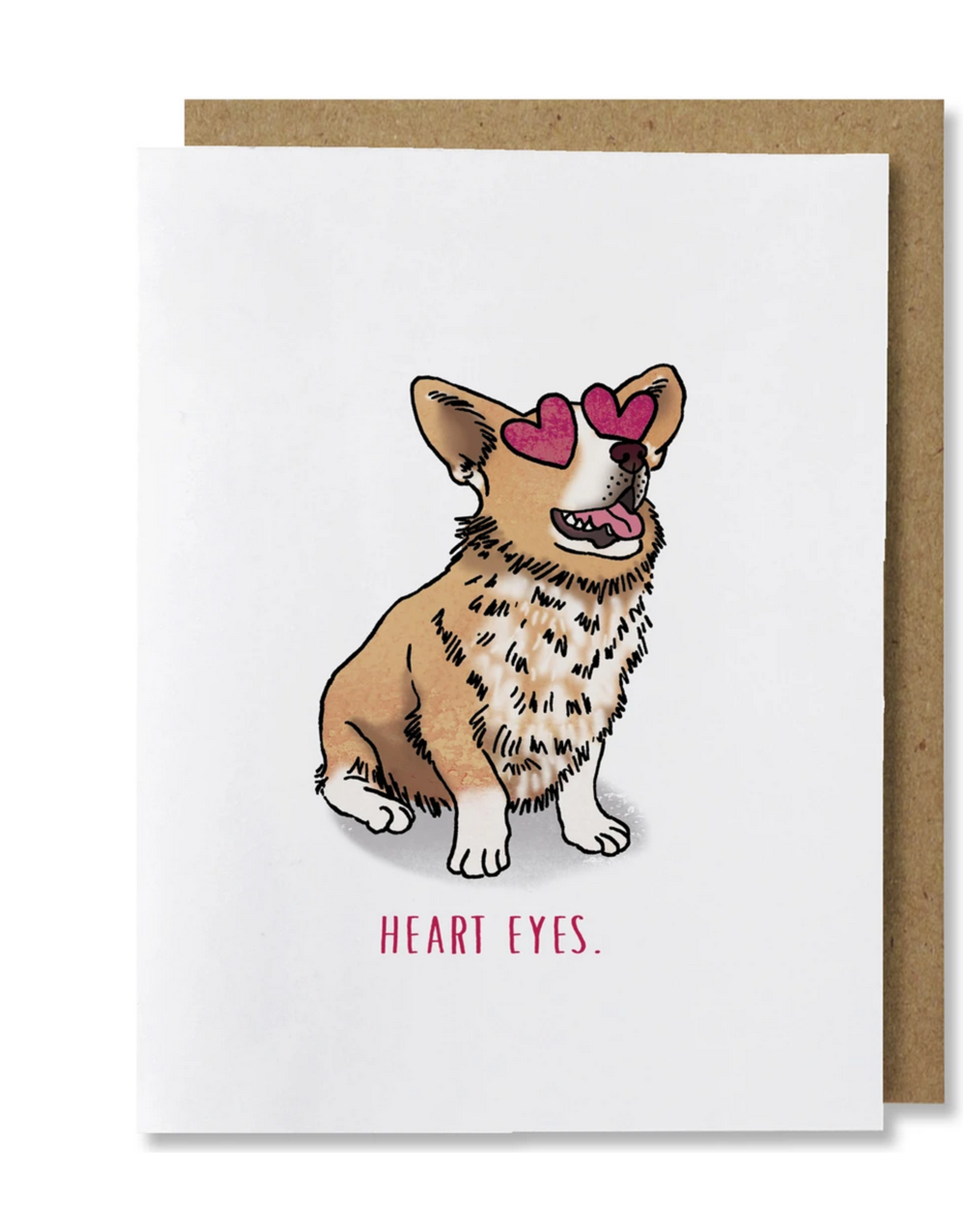 Heart Eyes Greeting Card