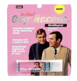 Instant Gay Accent Breath Spray