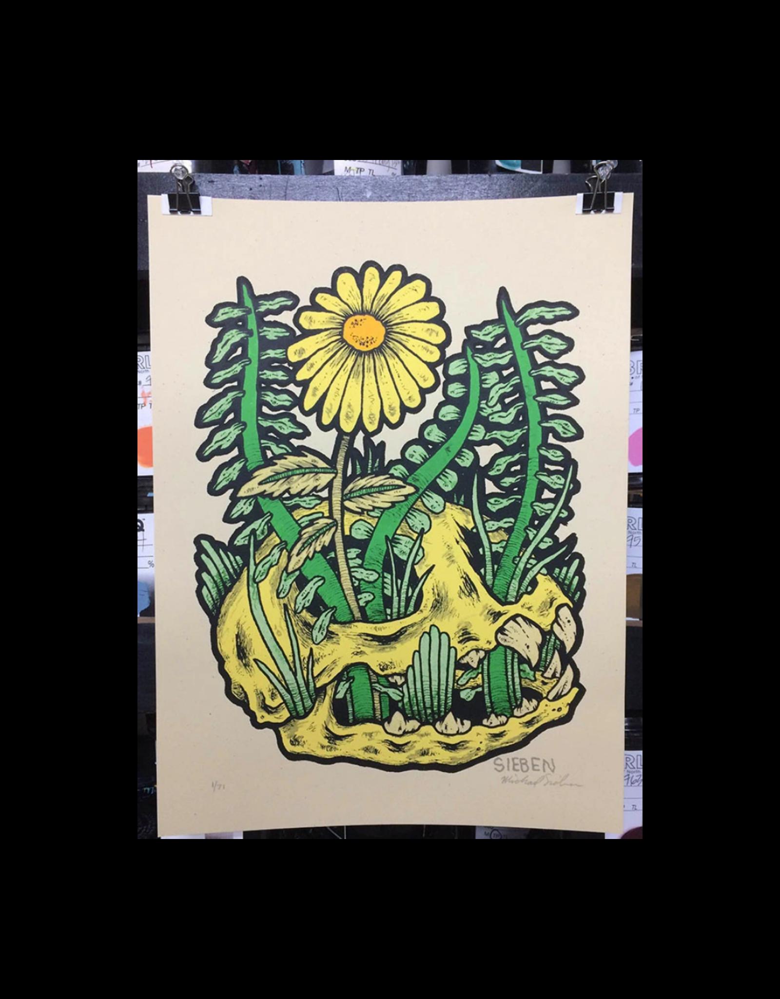 Skull Bloom by Michael Sieben Print