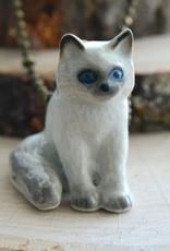 Handpainted Porcelain Ragdoll Kitten Necklace