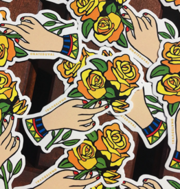 Yellow Rose Sticker