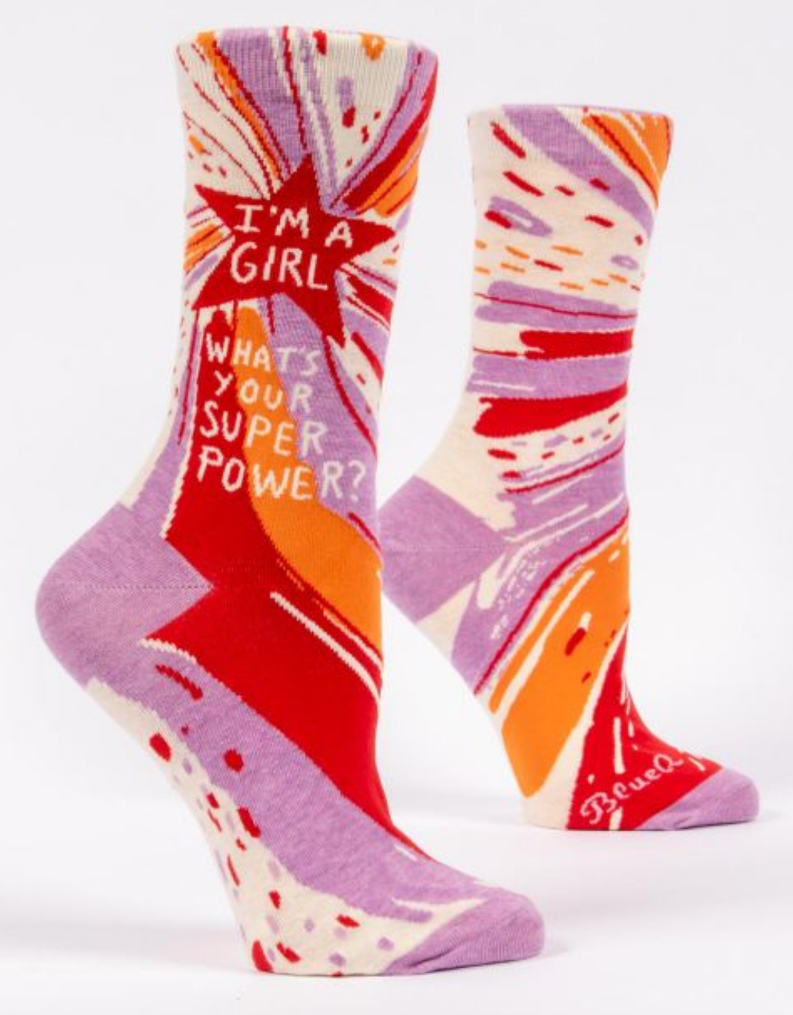 I'm A Girl. What's Your Superpower? Women's Crew Socks