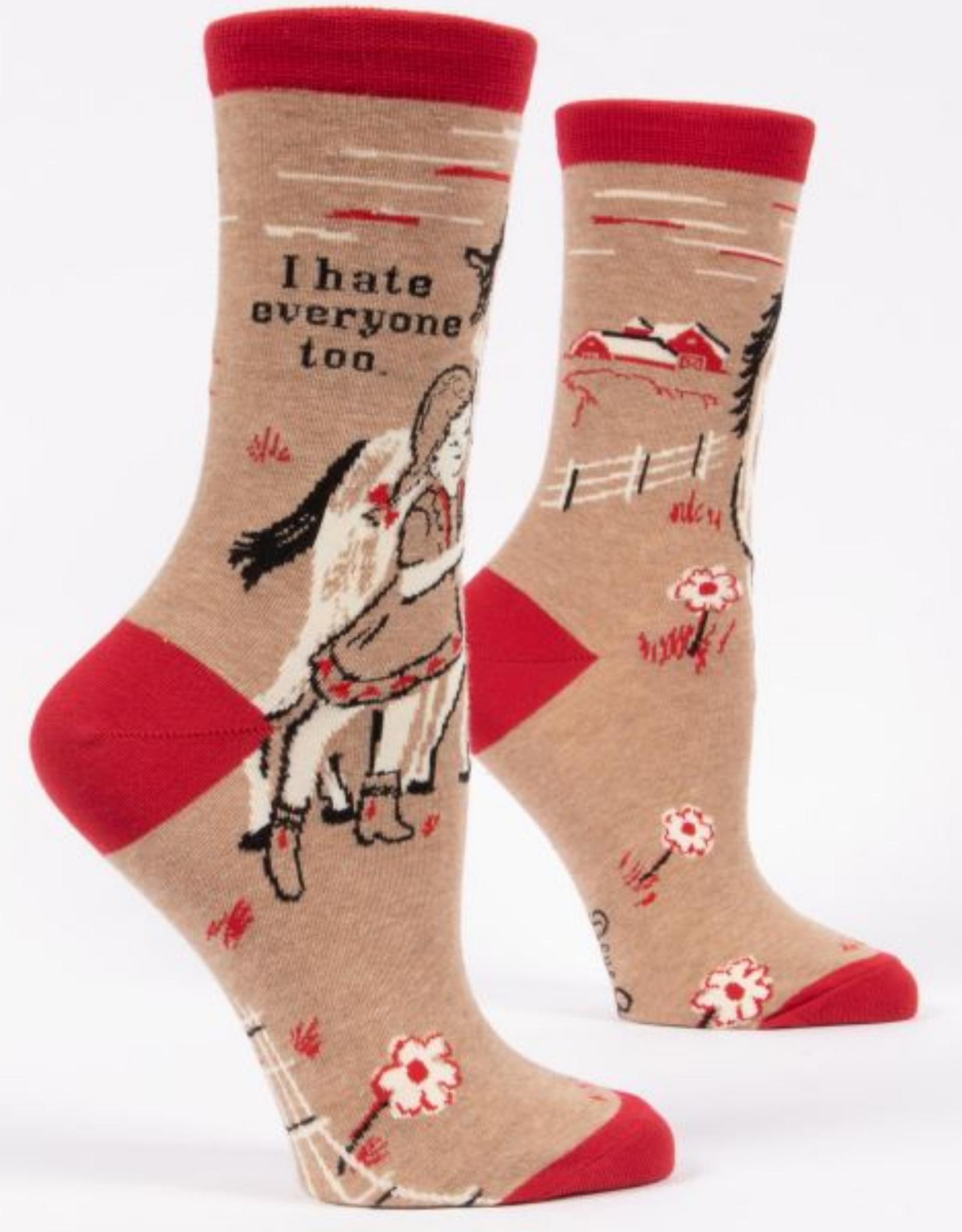I Hate Everyone Too Women's Crew Socks