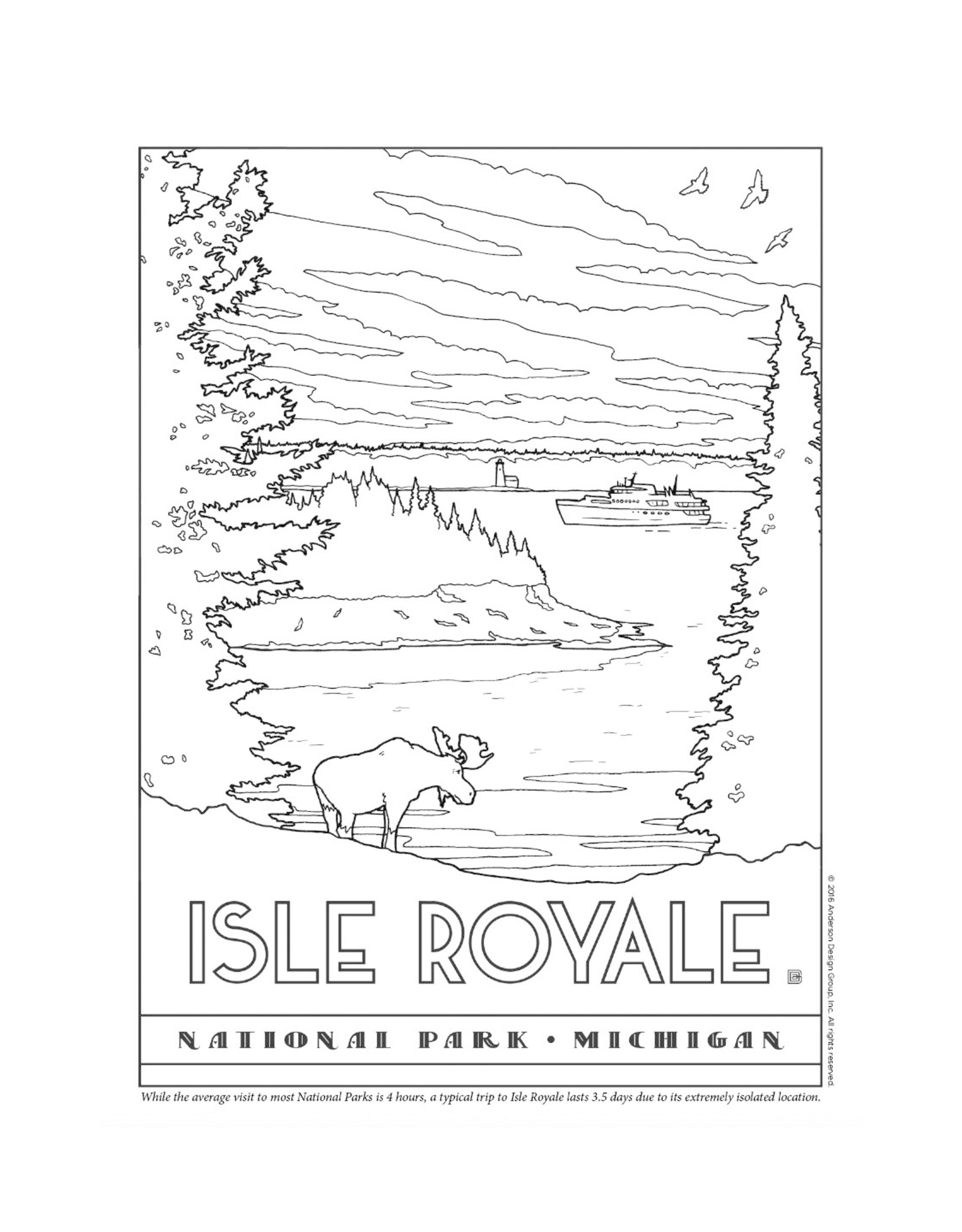 National Parks Coloring Book Home
