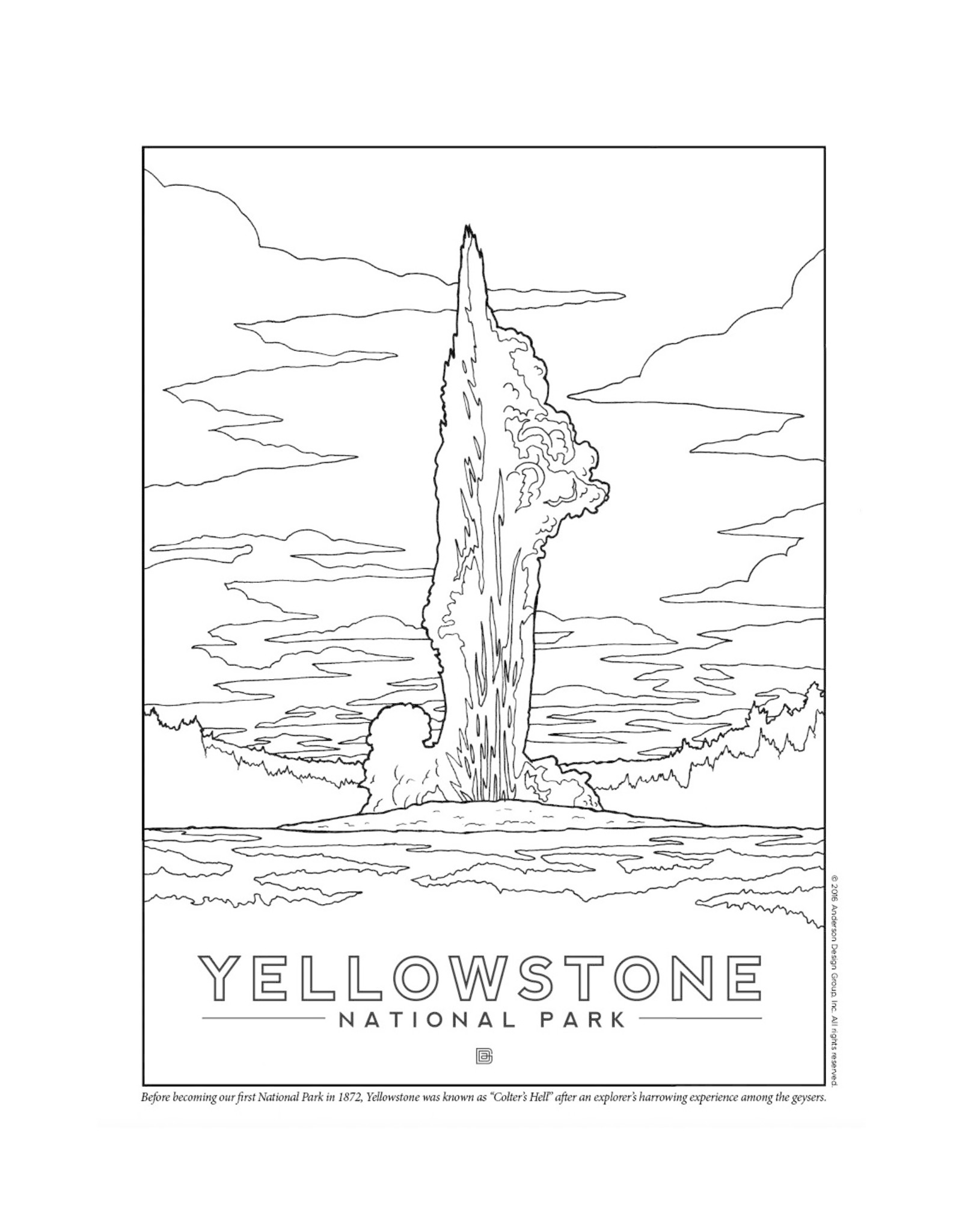 National Parks Coloring Book