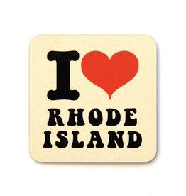 I Heart Rhode Island Coaster