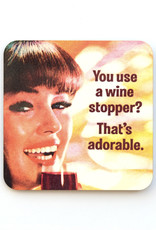 You Use a Wine Stopper? That's Adorable Coaster