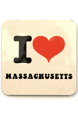 I Heart Massachusetts Coaster