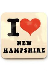 I Heart New Hampshire Coaster
