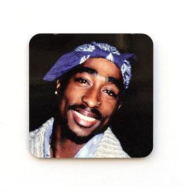 Tupac Blue Bandana Coaster