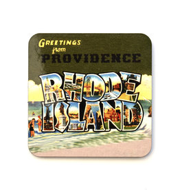Greetings from Providence, Rhode Island Green Coaster