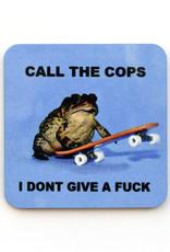 Call the Cops Frog Skateboard Coaster