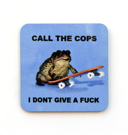 Call the Cops Frog Skateboard Coaster