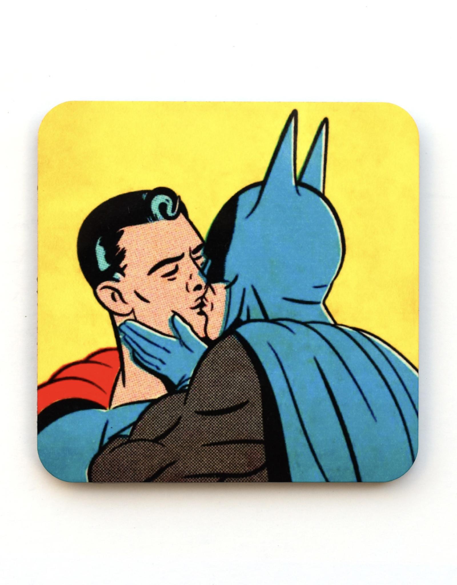Superman & Batman Kiss Coaster