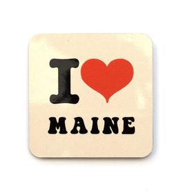 I Heart Maine Coaster