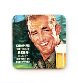 Camping Without Beer Coaster