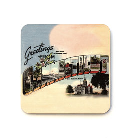 Greetings From Connecticut Coaster