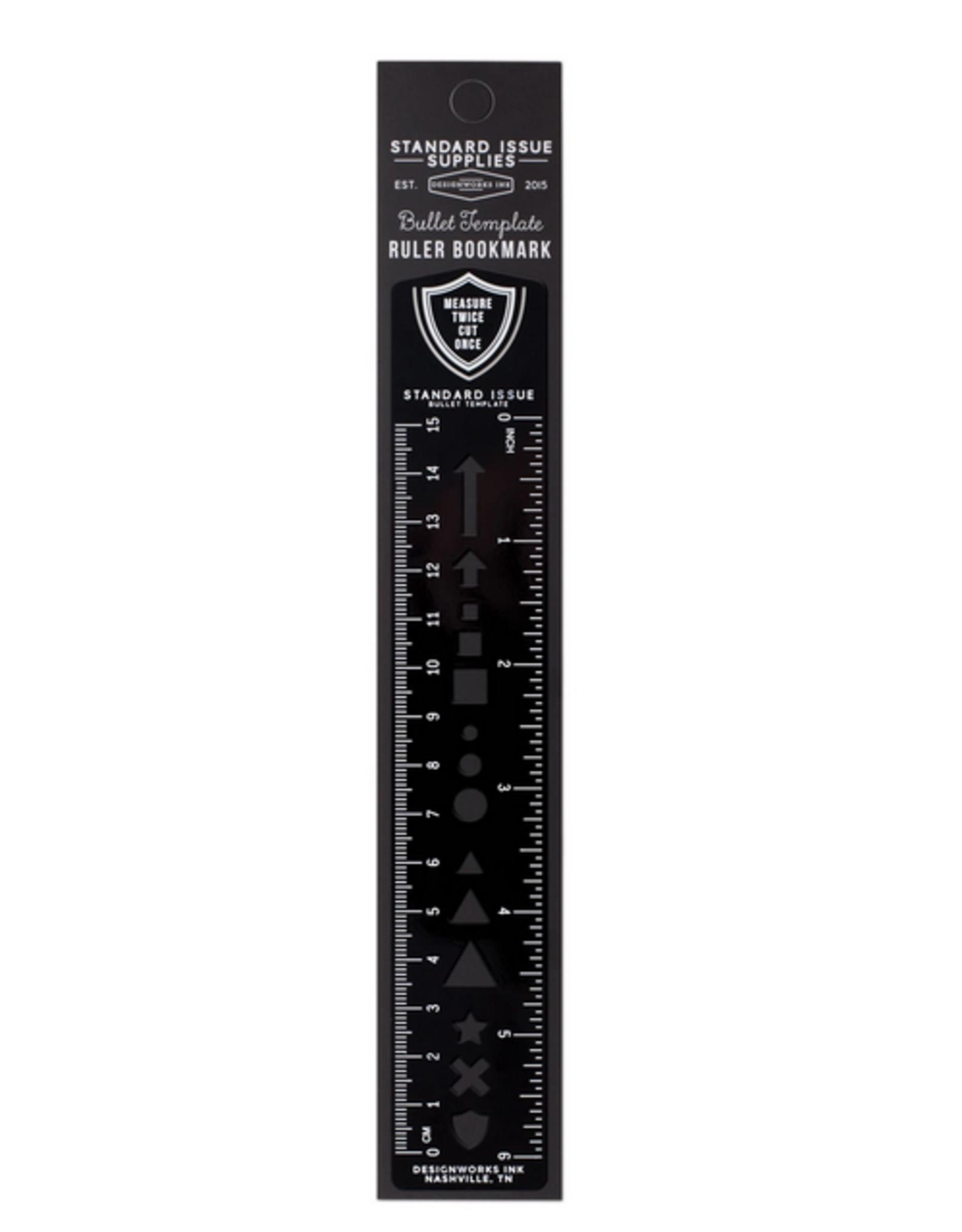 Bullet Template Ruler Bookmark - Black