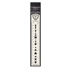 Bullet Template Ruler Bookmark - Cream