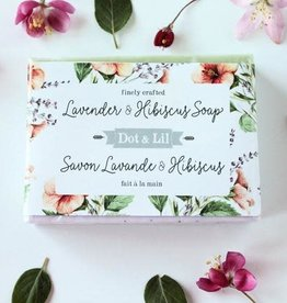 Lavender and Hibiscus Soap