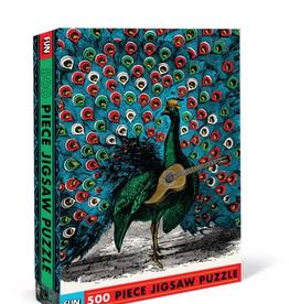 Peacock Strummer 500 Piece Puzzle