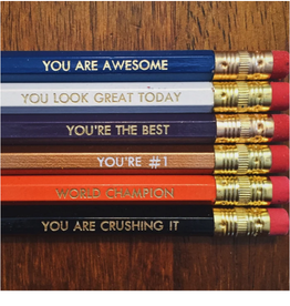 Positive Pencil Set of 6