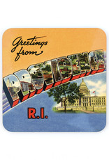 Greeting from Providence, Rhode Island Yellow Coaster