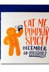 Pumpkin Spice Tiny Holiday Card
